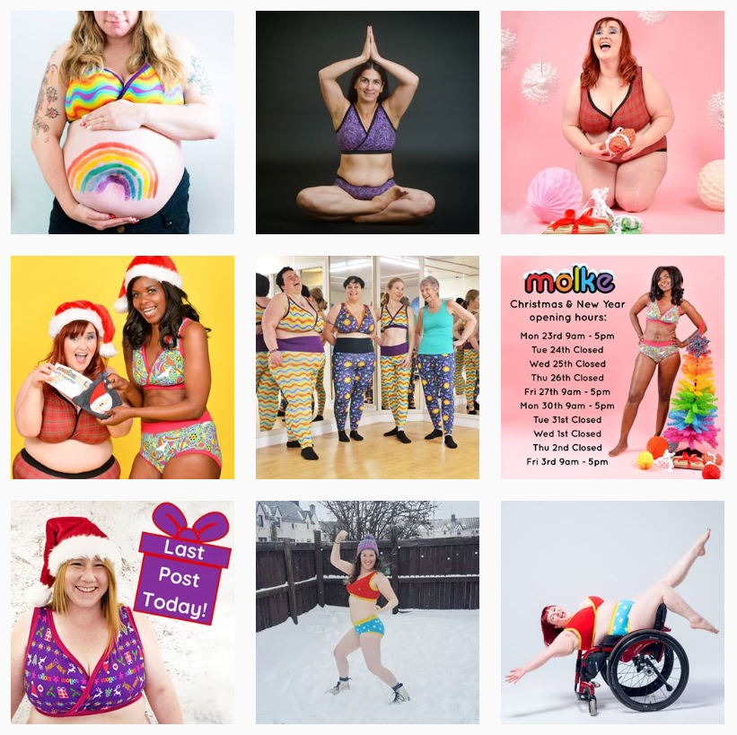 What do your online customers want? Molke embrace body positivity