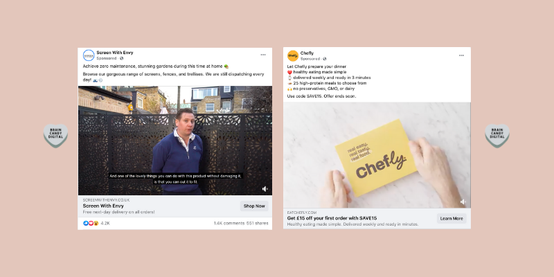 Social media advertising tips - examples of social ads that are relevant to the audience